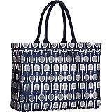 rockflowerpaper Wimbledon Tennis Racket Racquet Navy Canvas Carryall Tote Shoulder Bag