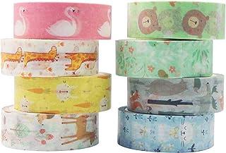 YUBX Washi Tape Ruban Adhésif Papier Décoratif Masking Tape pour Scrapbooking Artisanat de Bricolage (Small Animals)