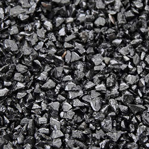 BTT-ST Steinteppich aus Marmorkies Nero Ebano und Epoxidharz Bindemittel für 7,2m² Marmorstein Marmorkiesel Steinboden Bodenbeschichtung