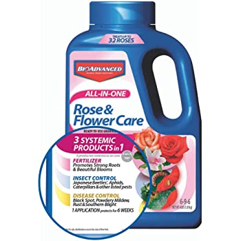 BAYER CROP SCIENCE 043929293566 Bayer Advanced 701110A All in One Rose and Flower Care Granules, 4-Pou, 4-Pound, Assorted