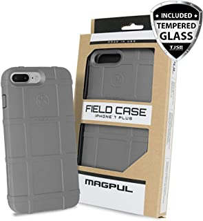 Case for iPhone 7 Plus / iPhone 8 Plus, with FREE TJS [Tempered Glass Screen Protector] Magpul [Field] MAG849 Polymer Cover Retail Packaging Compatible Apple iPhone 7 Plus/iPhone 8 Plus (Grey)