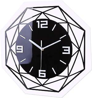 TETAKE 3D Horloge Murale Silencieuse ø 30 cm Pendule Murales Silencieuse Horloge Moderne Design Pendule Decorative pour Cu...