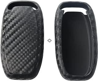 2Pack Silicone carbon fiber pattern car key case cover keychain for smart audi A1 A3 A4 A6 A5 S5 A7 S6 A8L S7 S8 Q3 Q5 SQ5 Q7 Q6 TT TTS R8 R18 accessories fob shell key bag