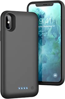 Battery Case for iPhone Xs/X/10 Upgraded 6500mAh Protective Rechargeable Charging Case for iPhone X Extended Battery Pack for iPhone Xs Portable Charger Case Backup Cover (5.8 inch) - Black