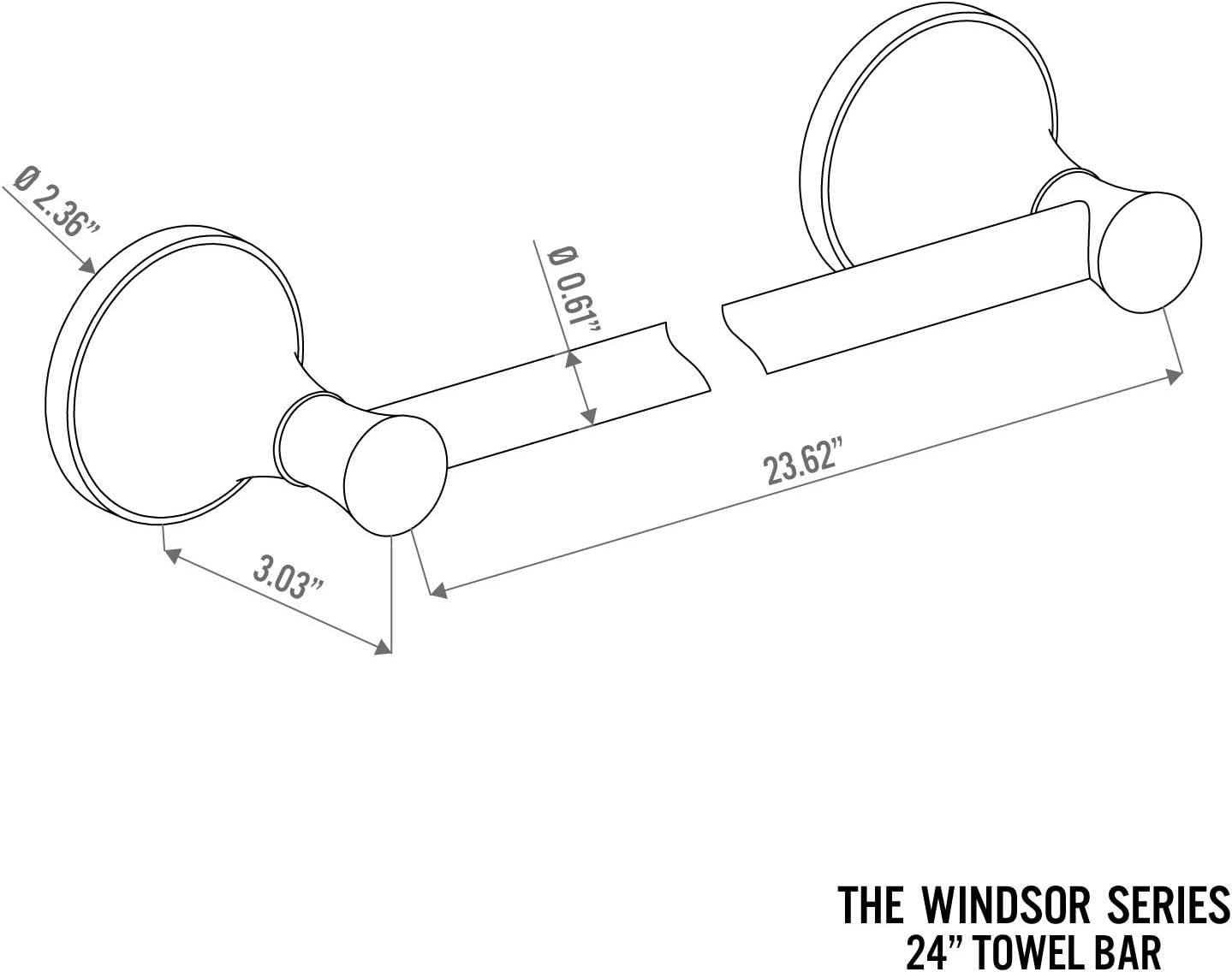 "Chrome Windsor 32/"" Towel Bar Holder Rack Bath Hardware Bathroom Accessory"