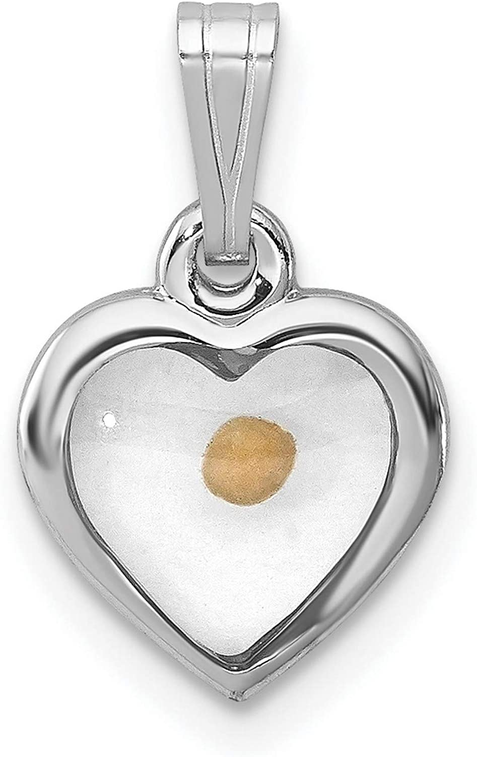 unisex Sterling Silver Small Heart New arrival with Mustard Seed mm 13 x Pendant 15