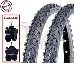 2 Camere d/'Aria ITALIA Bici 24 x 1.90 2.00 NERO GOMMA MTB Kit 2 Copertoni