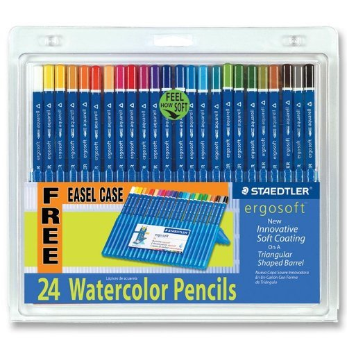 Staedtler 156-sb24cs Ergosoft Watercolor Pencil - 3 Mm Lead Size - Assorted Lead - 24 / Set