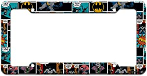 Batman Comic Pattern License Plate Clear Frame