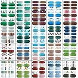 Dcola 24 Fogli Adesivi Unghie Nail Art Copertura Completa Nail Stickers Full Cover Adesivi per Unghie Decalcomanie Autoadesivi Unghie Copertura per Decorazioni Unghie Fai da Te