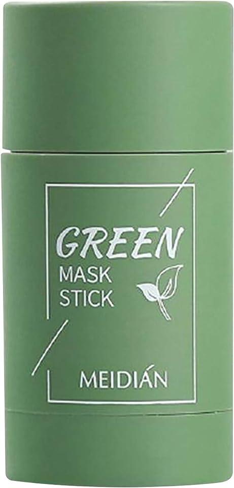2 Stück Grüner Tee Purifying Clay Stick Mask Ölkontrolle Gesichtsmaske, Stick Deep Cleansing Anti-Akne-Maske Fine Solid Mask Green Tea