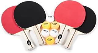 STIGA Performance 4-Player Table Tennis Racket Set with Inverted Rubber for Increased Ball Control and Added Spin