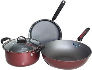 Juego de utensilios de cocina Juego de ollas y sartenes antiadherentes - Preparado para la inducción