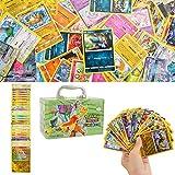 150Pcs Jeu de Cartes Pokemon Cartes, Carte de Pokemon Amusant pour Enfants, Cartes à Collectionner, XY Series Steam Siege