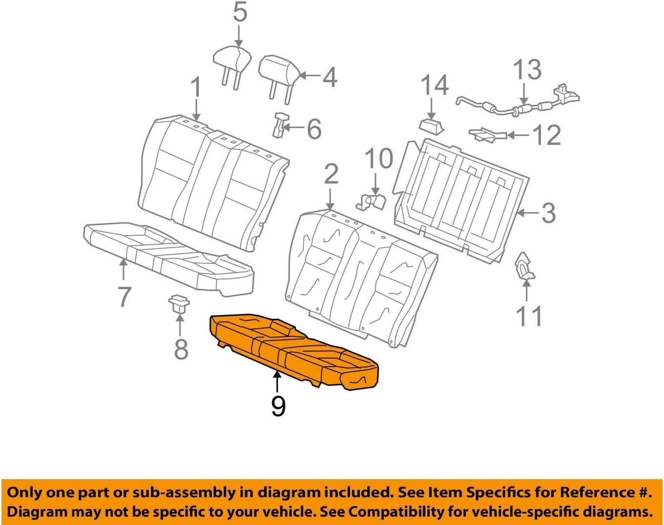 Honda Genuine Surprise price 82131-TE0-A22ZB Seat Cushion Cover Trim Rear Daily bargain sale