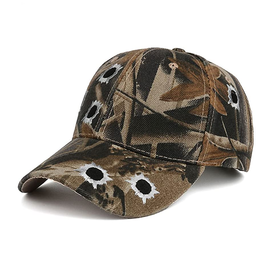 中にイサカ高い迷彩Dadキャップ調節可能なベルクロ迷彩野球帽子の狩猟と釣り