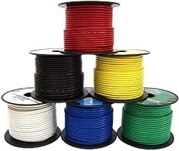 16 Gauge Wire Combo 6 Pack 12V 100'FT per Roll (600 ft Total) 16 Gauge Auto Wire Copper Clad Aluminium Low Voltage 16 Gauge Wire