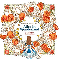 fairy tale coloring book Alice in wonderland
