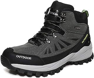 Bottes de randonnée pour hommes, chaussures de trekking en automne et en hiver, chaussures de sport de marche en plein ai...