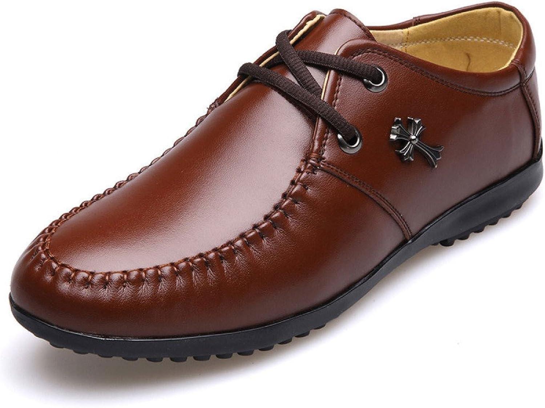 LEDLFIE Men's Real Leather shoes Casual shoes Lace-up shoes Men's shoes