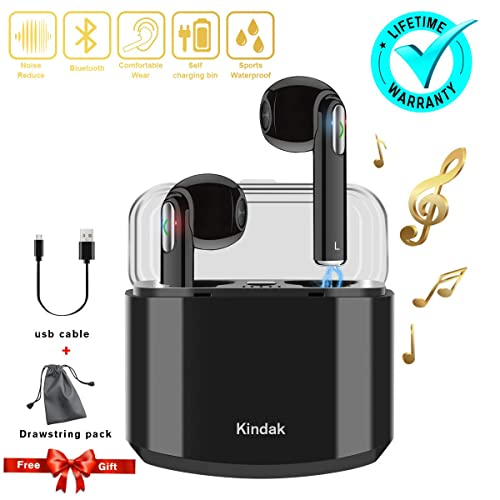 Inalámbricos Auriculares Bluetooth,Wireless In-ear Cascos Earbuds con Micrófonos Manos libres Headset,