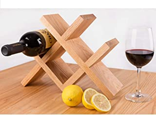 Logo TLF-FF Forma de Diamante encimera de Madera de bambú Estante del Vino - Independientes Elegante y Moderna la Botella...
