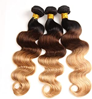 Ombre Brazilian Hair Body Wave 3 Tone Ombre Bundles Human Hair 14 16 18, Ombre Body Wave 3 Bundles Ombre Bundles Remy Hair Body Wave