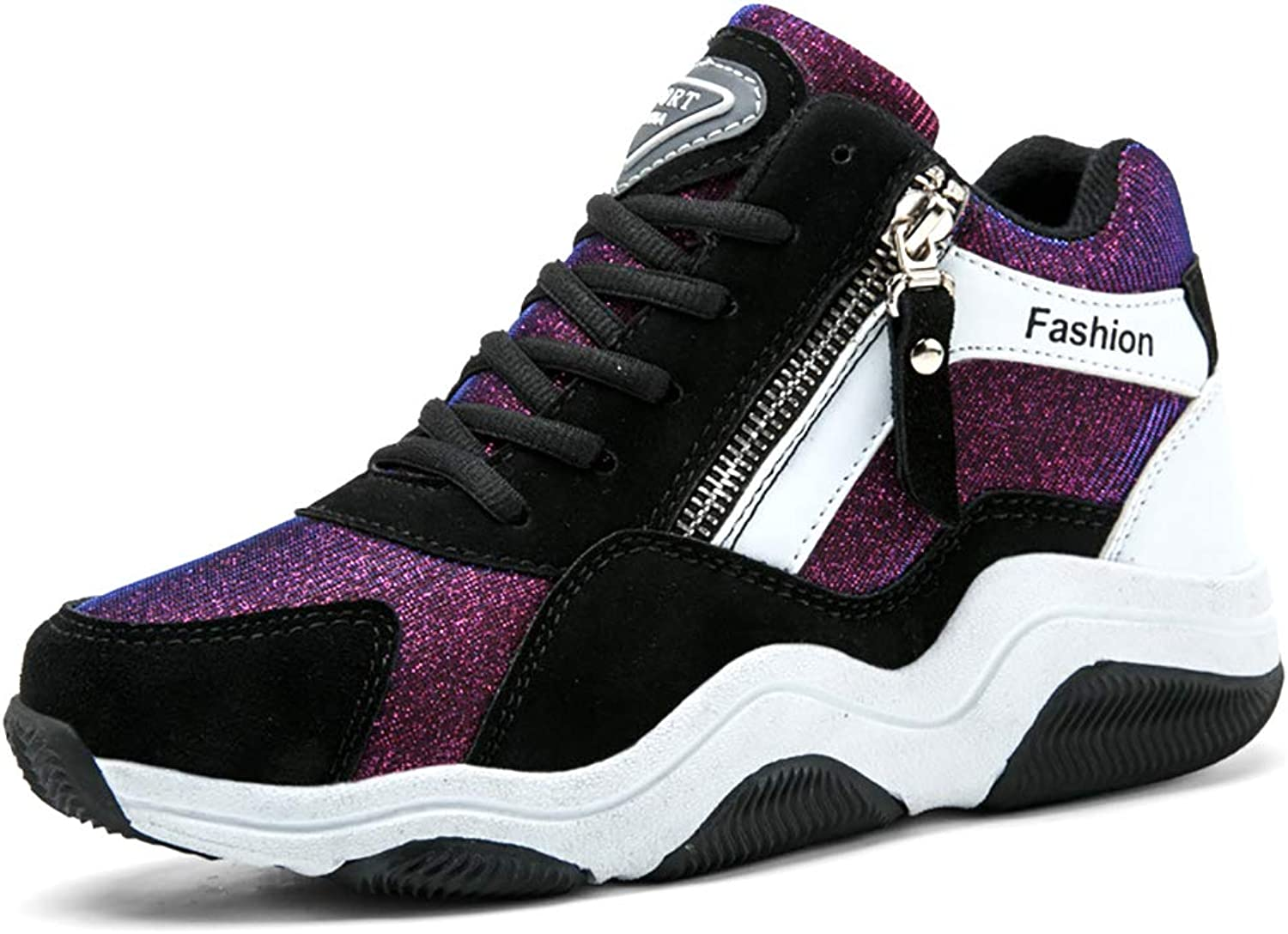 Women's Comfort shoes,PU(Polyurethane) Fall & Winter Sneakers 2 colors Available, 5 Sizes,Purple,39