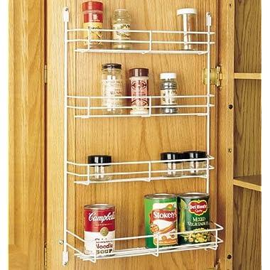 Rev-A-Shelf 565-10-52 Door Mount Spice Rack - Wire -White- 10