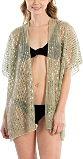 by you Women Summer Beach Swimsuit Bikini Cover Up Kimono Cardigan