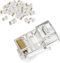UGREEN Cat5 Ethernet Connector 50 Stuks Ethernet Kabel RJ45 Connector voor Cat6 Cat5e Cat5 Crystal Head RJ45 Krimpconnecto...