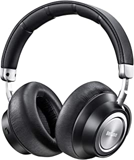 Hybrid Active Noise Cancelling Headphones, Boltune Upgraded Version, Wireless Headphones with Microphone/Deep Bass Bluetooth Headphones Over-Ear, Protein Earpads 30H Playtime for Travel Work Cellphone