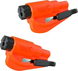 resqme The Original Keychain Car Escape Tool, Made in USA (Orange) - Pack of 2