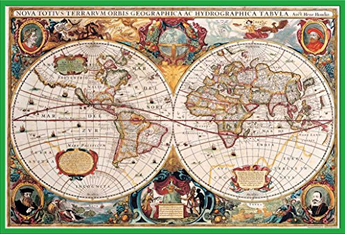 Empire Interactive Cartes Poster Carte du monde antique + accessoires Kunststoff-Rahmen Grün