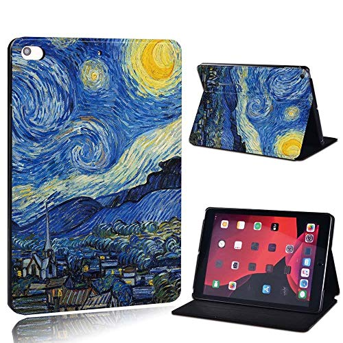 para iPad 2 3 4 5 6 7 / Air 1 2 3 / Pro 11 2018 2020 PU Cuero Tablet Sket Folio Cover Ultrathin Pinting Colors Slim Case (Color : Dark, Size : Air 3 10.5 2019)
