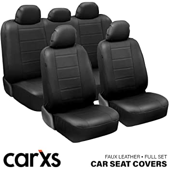 Clazzio 440011blkk Black Leather Front Row Seat Cover for Nissan Rogue S