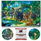 GREAT ART Fototapete Dschungel Tiere 210 x 140 cm – Zoo