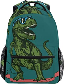 School Backpack Skateboard Dinosaur Teens Girls Boys Schoolbag