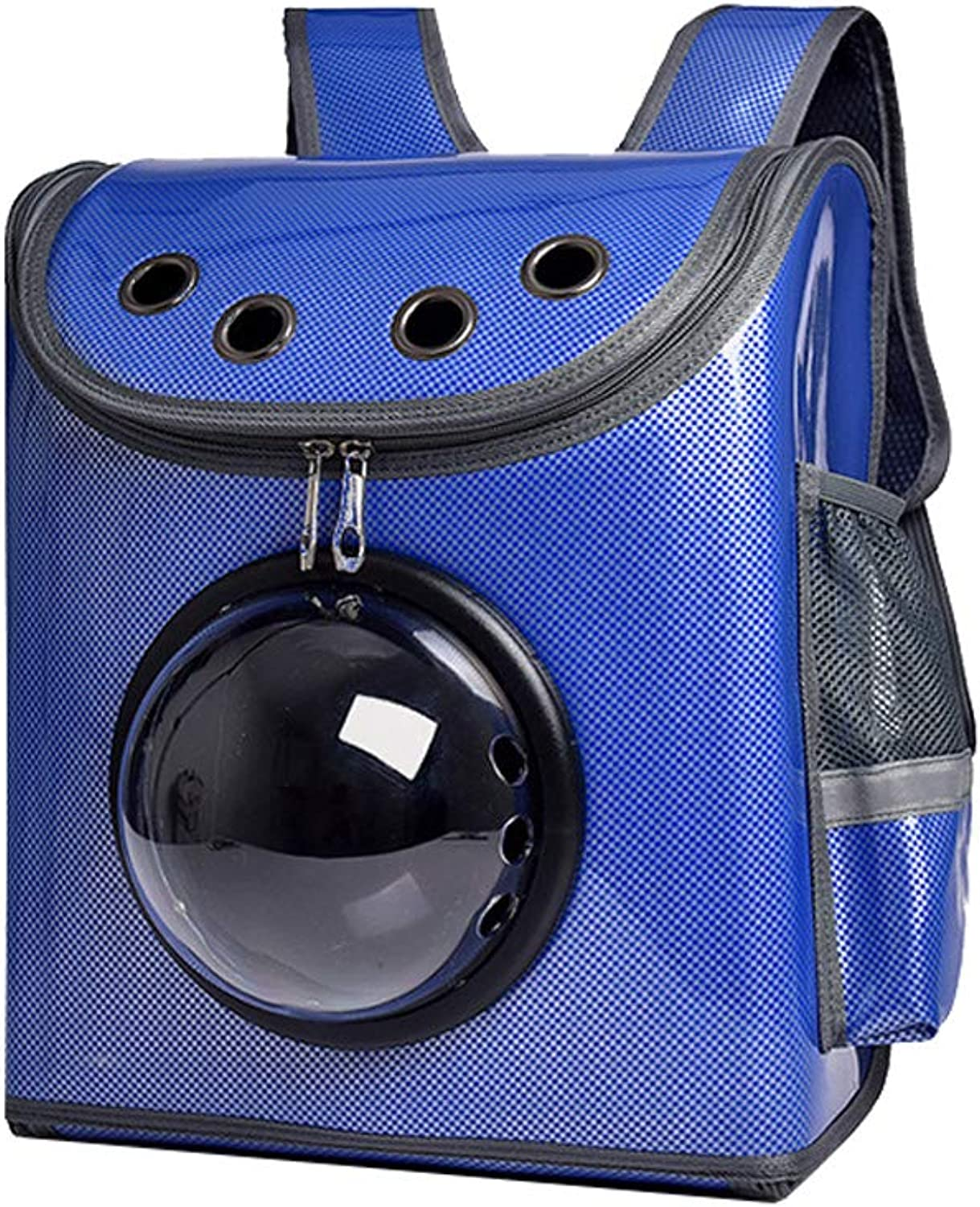 Pet Travel Carrier Backpack Hands Free Pet Puppy Outdoor Bag Reversible (color   bluee)