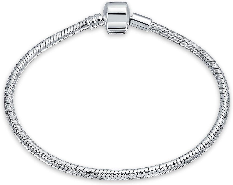 Topics on TV 925 Bombing new work Sterling Silver Starter Snake Women Barre Chain For Bracelet