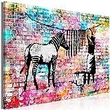 decomonkey Bilder Banksy 120x80 cm 1 Teilig Leinwandbilder