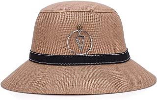 SHENLIJUAN Hat Visor Outdoor Travel Sweat-Absorbent Breathable Sunscreen Wild hat (Color : Brown, Size : 58cm)