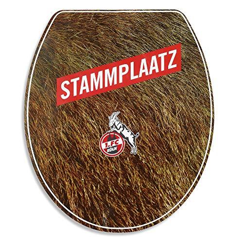 1. FC Köln toiletbril-stickers, stickers stamplaats - plus gratis bladwijzer I Love Keulen