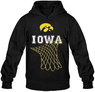 CYANY Iowa Hawkeyes Basketball - Net Dangling From School Women's Cute Hoodies Hoodie Black