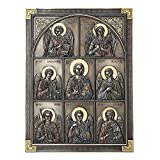 Veronese Design 12.25 Inch Jesus and The Seven Archangels Classic Style Antique Bronze Finish Wall Sculpture Plaque Decoration