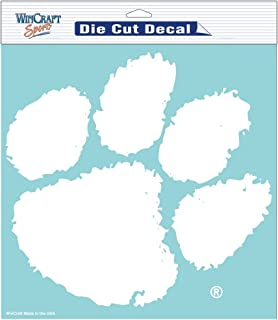 white clemson decal