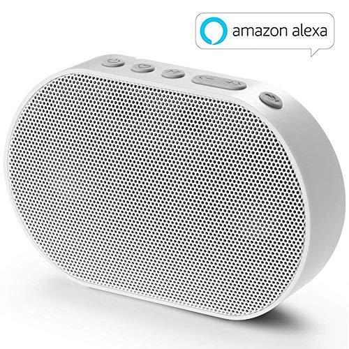 GGMM Altoparlante Bluetooth Senza Fili con Amazon Alexa Suono Stereo Cassa Portatile Speaker Multiroom Altoparlante 10W Bianco