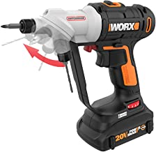 WORX WX176L 20V Switchdriver 2-in-1 Cordless Drill and Driver with Rotating Dual Chucks and 2-Speed Motor with Precise Ele...