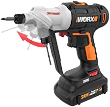 WORX WX176L 20V Switchdriver 2-in-1 Cordless Drill and Driver with Rotating Dual Chucks..