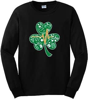 ThisWear Shamrock Nurse ST Patricks Day Gift for Lucky Nurse Long Sleeve T-Shirt